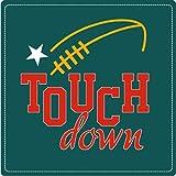 Touch Down Amercian Football Sport Hochwertigen Auto-Autoaufkleber 10 x 10 cm