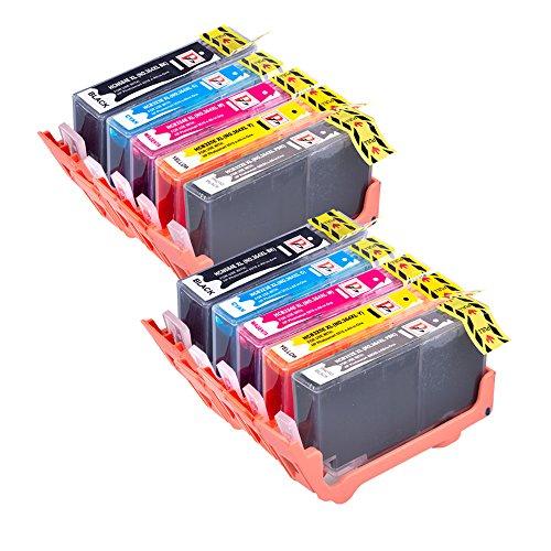 Preisvergleich Produktbild 10 kompatible High Capacity Druckerpatronen Ersatz für HP 364 XL für HP Photosmart 7510 7520 B8550 B8553 C5380 C5383 C5390 C6300 C6380 D5460 D5463 D5468 D7560 eStation C510 C510a C309 C309g C309h C309n C310 C310a C309a C309c C410b Drucker