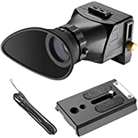 Neewer Visor de Cámara Universal, 2,5 x Ampliación para Pantallas de 3 y 3,2 pulgadas con Monitor LCD para Cámaras Canon, Nikon, Sony, Olympus, Pentax DSLR