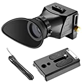 Neewer Universal Camera Viewfinder, 2.5 x Magnification for 3-inch and 3.2-inch Screens with LCD Display for Canon, Nikon, Sony, Olympus, Pentax DSLR Cameras