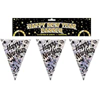 Happy New Year Holographic Bunting