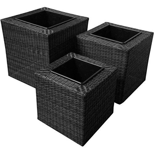 Maze-Rattan-Outdoor-Garden-Furniture-Trio-Squared-Rattan-Planter-Trio-Set
