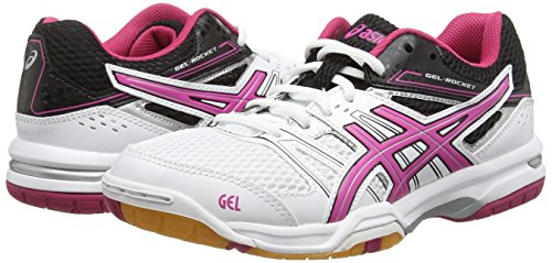 Asics Gel-Rocket 7, Damen Volleyballschuhe Weiß (white/magenta/black 0125)