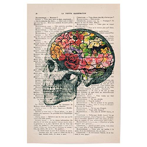 artboxONE Poster 30x20 cm Anatomie Floral Flower Brains - Bild Brain anathomy Print Flowers (Brain-bild)