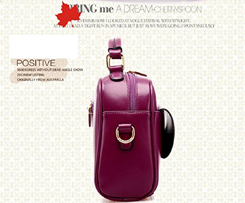 Femmes et dames PU sacs à main en cuir sacs à bandoulière Top-Handle Bag Totes sac à main Cross Body , purple Red