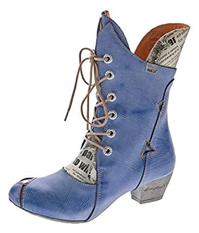 Damen Stiefel Echt Leder Comfort Boots Schuhe TMA 7011 Stiefeletten