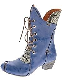 34bc57d90b50 TMA Damen Stiefel Echt Leder Comfort Boots Schuhe 7011 Stiefeletten 36-42