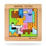 Giplar Holzpuzzles Didaktisches Intelligenz Pädagigisches Spielzeug für Kinder ab 3