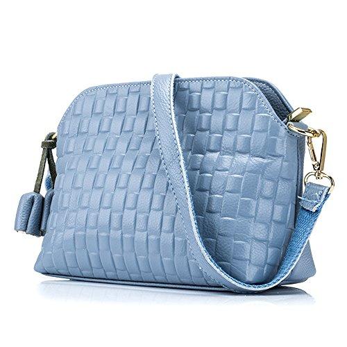 MeiliYH Damen Echtes Leder Schultertasche Messenger Bag Woven Quaste Dekorative Pack F¨¹r Frauen (Dekorative Leder-quaste)