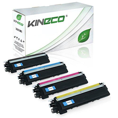 Kineco 4 Toner kompatibel für Brother TN-230 TN230 für Brother HL-3040 CNG1, MFC9120CN, DCP-9010CN, HL-3070CN, MFC-9320CW, MFC-9325CW - Schwarz 2.200 Seiten, Color je 1.400 Seiten - Drucker Mfc9320cw Brother
