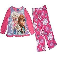 Disney Frozen Bambina Elsa Anna 2pezzi fiocchi di neve in pile Pajama Set