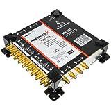PremiumX Multischalter PXMS pmse 17/8 mit Netzteil FullHD HDTV 3D 4K 8K tauglich für 4x Satelliten und 8x Teilnehmer + 1x Terr.