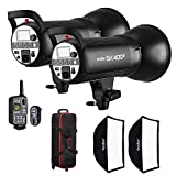 #9: Godox SK400II 2 x Flash Head Kit with 2 x Softboxes, 1 x XT-16 Trigger, 2 x Reflectors, 1 x Trolley Carrying Case