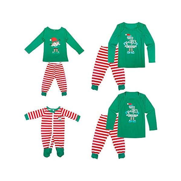 YOFASEN Pijamas Navideños Familiares - Ropa de Dormir para Mujeres Hombres Bebé Niño Invierno Algodón Pijamas Dos Piezas… 1
