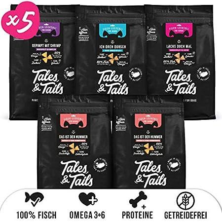 Tales & Tails® Trainingsleckerli 100% Fisch I Mixpaket I nur 1 Zutat I getreidefrei I zuckerfrei I hohe Akzeptanz I 5…
