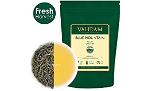 Tè Verde in Foglie Di Blue Mountain, 50g (25 tazze) | Tè Verde Sfuso Morbido e Delizioso | detox al 100% naturale, tè dimagrante e tè verde per dimagrire | Green Tea dall'India