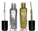Set:Nailart Fineliner, je 8 ml:Glitter Silber + Glitter Gold. Auf Nagellack - Lackbasis. Nicht Wasserlöslich