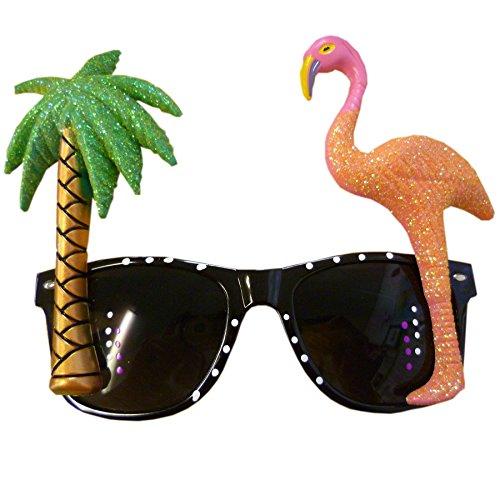 Palm Tree und Flamingo Sonnenbrille