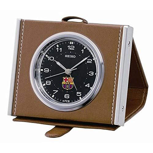 SEIKO Clocks BARÇA Analógico Cuarzo Despertadores de Piel QHT901B