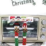 HCFKJ Weihnachten Mikrowelle Griff Abdeckung Tischdekoration FüR Party Weihnachten