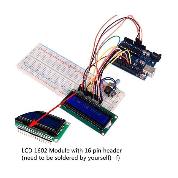 51urK%2BQI vL. SS600  - Kuman Más Completo y Avanzado de Arduino Mega Starter Kit para Arduino Uno R3 con Guías Tutorial Detallada, MEGA2560, Mega328,5V Motor Paso a Paso, Kit Arduino con Placa