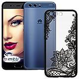mtb more energy® Schutz-Hülle Lace für Huawei P10 (VTR-L09, L29 / 5.1'') | Flowers | Schwarz | Case Cover Tasche