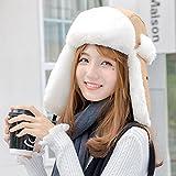 Wenxin0815 Hut Weiblichen Warmen Winter Outdoor Radsport Winddicht Maske Ohr Cap Verdickung, L (58-60 Cm), Khaki