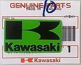 BRAND NEU 100% GENUINE Original KAWASAKI ' K ' Mark Aufkleber Aufkleber GRÜN / SCHWARZ 42mm x 24mm