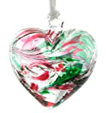 October Birthstone Glass Heart - Opal
