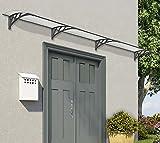 Palram Vordach, Regenschutz, Überdachung Neo 4050 klar// 410x86 cm (BxT) // Pultvordach und Türüberdachung
