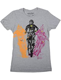 TROY LEE DESIGNS Bright Riders Grey Youth Tee Shirts Mixte Enfant, Gris, FR : S (Taille Fabricant : S)