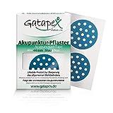 Exklusive Weltneuheit: Gatapex Akupunkturpflaster, Form: rund, groß, Blau