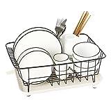 LXLA- 304 Edelstahl Abtropfgestell Küche Lagerung Regal Haushalt Halter Essstäbchen Korb 40 × 30 × 17 Cm (Farbe : Black)