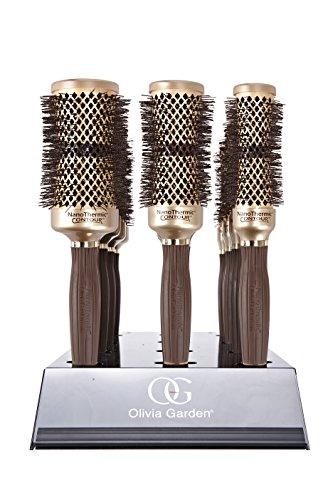 Olivia Garden NanoThermic C Plus I Display mit 12Contour Thermal-Bürsten - 64-pinsel-set
