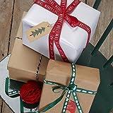 Ginger Ray Weihnachten Bänder in 3 Ausführungen mit Bäumen, Frohe Weihnachten & Metzger Garn - Christmas Patterns