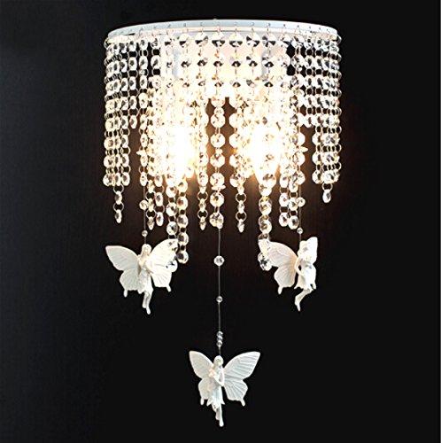 Lampe Murale Lampe Murale En Cristal À LED Simple Moderne Lampe De Chevet Applique Murale À Encastrer Chambre À Coucher Éclairage Mural E14 * 2