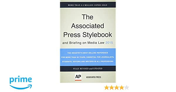 Buy the associated press stylebook 2015 associated press stylebook buy the associated press stylebook 2015 associated press stylebook and briefing on media law book online at low prices in india the associated press fandeluxe Choice Image