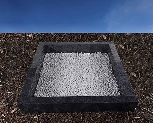 grabstein-gestaltung.de Urnengrab Einfassung Umrandung 100x100 cm Bahama Blue Granit