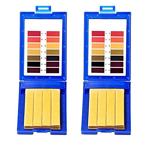 Mein HERZ 160 Stück Litmuspapier PH-Bereich 1-14 Universelles PH-Testpapier Kann zum Testen des täglichen Bedarfs im Haushalt verwendet Werden/Blau