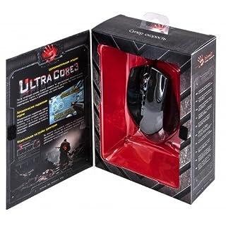 A4Tech V5 Maus USB Optisch 3200 DPI - Mäuse (Optisch, USB, 3200 DPI, Schwarz, Rot)