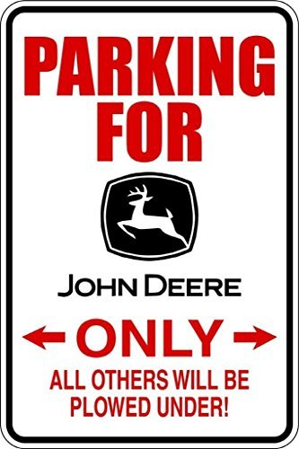 Top Selling Decals - Prices Reduced : Parking For John Deere - Parking Signs - Picture Art - Peel & Stick Vinyl Wall Sticker 9x18 by Design with Vinyl (John Deere Parking)