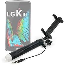 Palo Selfie (Selfie-Stick) para Smartphones LG K10 / K7 3G / K7 LTE / Stylus 2 / X Cam / X Screen / G5 / K5 / K8 - DURAGADGET