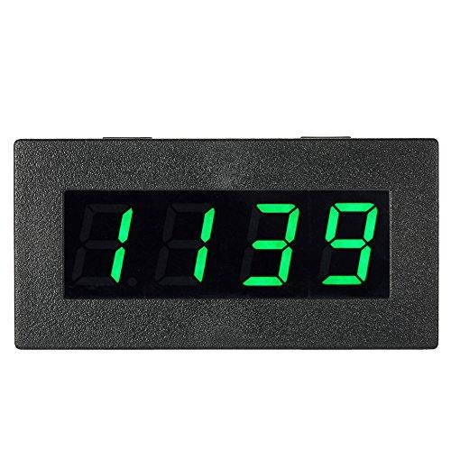 KKmoon 0,56 Pouce Tachymètre Numérique de Haute Précision avec LED à 4 Chiffres, Compteur de Vitesse du Moteur de Voiture, Compte-Tours RPM Mesure Testeur 5-9999R / M DC 8-15V-VERT