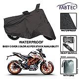 #8: Fabtec Premium Quality Waterproof Bike Cover With Buckle Lock & Storage Bag Free For Ktm Duke 390