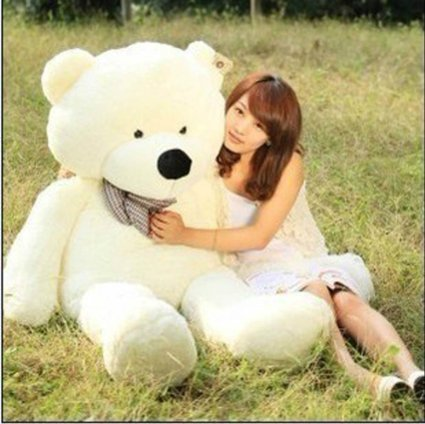 dis-47-12m-giant-big-large-stuffed-animals-plush-teddy-bear-soft-toy-doll-white-color