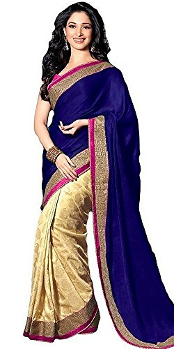 Arawins-Womens-Clothing-designer-Wear-buy-online-New-Year-Special-Sale-Offer-in-Blue-Color-Satin-Fabric-Printed-Free-Size-beautiful-Saree-with-Border