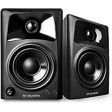 M-Audio AV 32, Casse Monitor Attive da Scrivania Biamplificate con Audio di Qualità, Ottimi per Film, Gaming, Musica e Produzione Multimediale, Coppia - Uscita Passa Alto