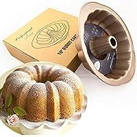CucinaGood 10 Inch Non-stick Pumpking Shape Cake Pan Mold Bread Chiffon Pans Molds