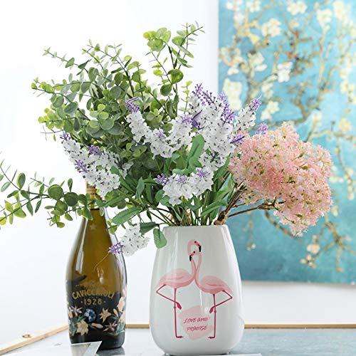Niya Soft Lavendel Blumen Real Touch Kranz Gefälschte Blume Für Hochzeit 3 stücke -
