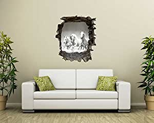 wandsticker pferde in 3d optik f r einen tollen effekt. Black Bedroom Furniture Sets. Home Design Ideas